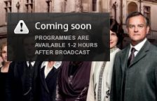 Coming soon? Viewers attempting to watch Downton Abbey via ITV Player on Sunday night  were in for a disappointment