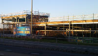 Didcot's new Aldi under construction last year