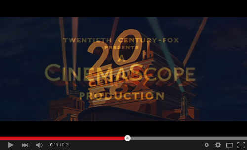 Twentieth Century Fox CinemaScope opening - click to play on Youtube
