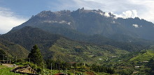 Mount Kinabalu - photo by Wikipedia user Oscark, Creative Commons Attribution-Share Alike 3.0 Unported license