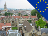 Oxford with EU flag
