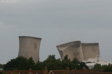 Didcot Power Station cooling tower demolition 3